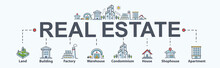 Real Estate Banner Web Icon Fo...