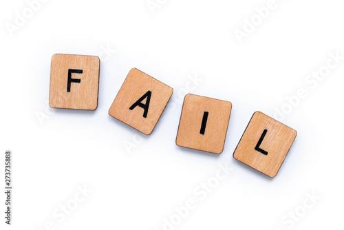 Valokuva The word FAIL