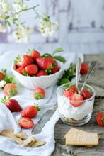 Creamy Sweet Dessert With Fres...