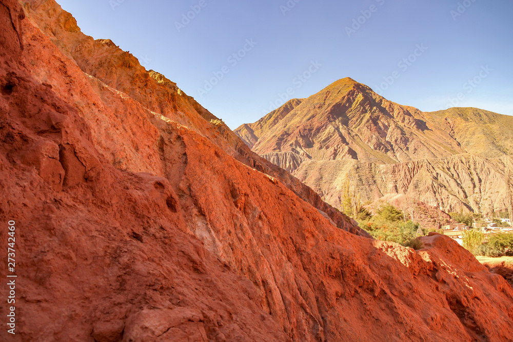 Fototapety, obrazy: View on the rocks and the mountains of Salta