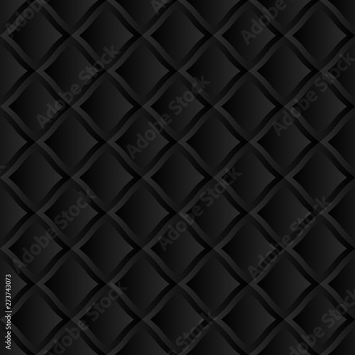 Deurstickers Leder Abstract geometric 3D background. Modern stylish texture. Seamless pattern
