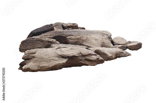 rock isolated on white background - fototapety na wymiar