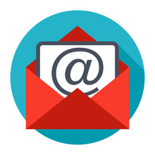 Envelope Email Icon Isolated O...