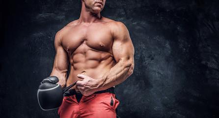 Serious muskular man get pr...