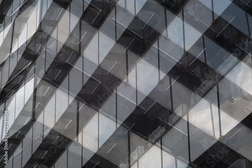 Türaufkleber Darknightsky Glas Architektur Büro Gebäude