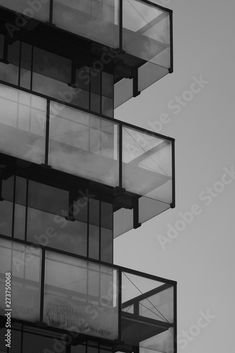 Türaufkleber Darknightsky Modern Office Tower