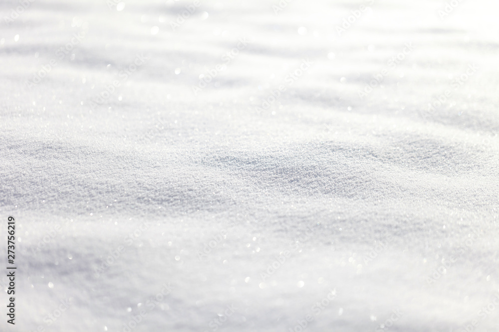 Fototapety, obrazy: Beautiful sunny bright snow texture winter season copy space background. Selective focus used.