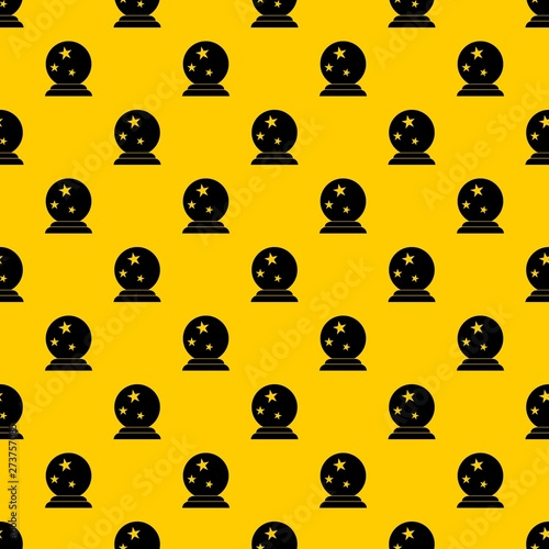 Magic ball pattern seamless vector repeat geometric yellow for any design Canvas Print