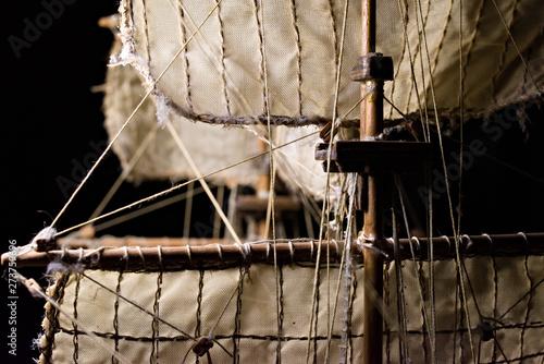 Valokuva modeling: English brig - wooden sailing ship