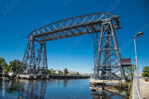 Old Nicolas Avellaneda steel bridge across Matanza River in La Boca, Bueno Aires Slika na platnu