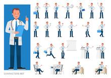 Set Of Doctor Working Characte...