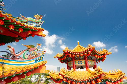 Photo Stands Kuala Lumpur Thean Hou temple in Kuala Lumpur