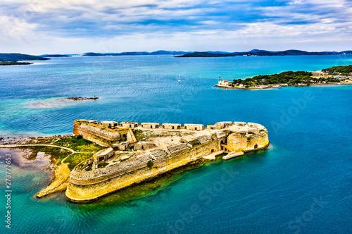 St. Nicholas Fortress near Sibenik in Croatia Fototapete