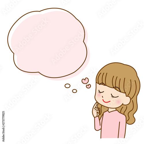 若い女性のイラストアイコン キャラクター Fototapet