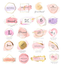 Logo Watercolor Background Ban...