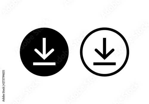 Fotomural download icon symbol vector