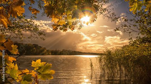 Fototapeta Jezioro sunset