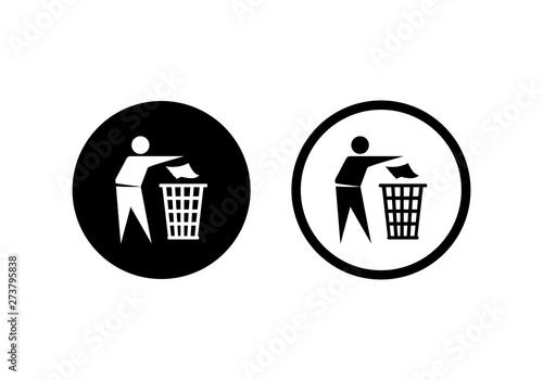 Keep clean icon Tableau sur Toile