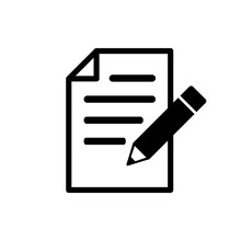 Note Icon. Taking Note Icon Vector. Edit Line Icon. Document Write. Content Writing
