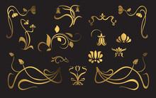 Set Of Art Nouveau Ornament