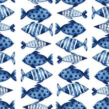 Indigo Navy Blue Pattern Abstr...