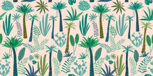 Tropical Pattern With Abstract...