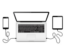 Laptop With Connected Devices