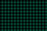Green black Lumberjack plaid seamless pattern - 273819251