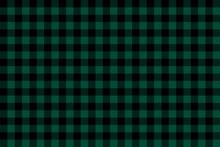 Green Black Lumberjack Plaid Seamless Pattern