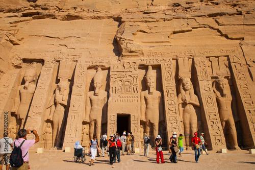 Obraz na plátně  Templo de Hathor, Abu Simbel, Valle del Nilo, Egipto