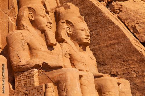 Fotografie, Obraz  Gran Templo de Abu Simbel, Abu Simbel, Valle del Nilo, Egipto.