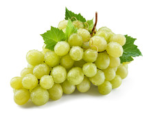 Grape Isolated. Grapes On Whit...