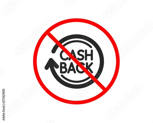 no or stop cashback service icon money transfer sign rotation arrow symbol prohibited ban stop symbol no cashback icon vector buy this stock vector and explore similar vectors at adobe stock adobe stock