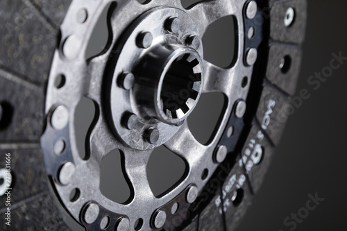 Close-up shot of clutch disk and basket on background Wallpaper Mural
