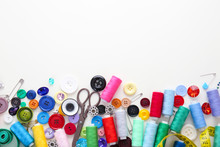 Set Of Sewing Threads And Acce...