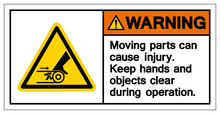Warning Moving Part Cause Injury Symbol, Vector Illustration, Isolate On White Background Icon. EPS10