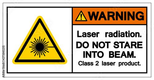 Foto Warning Laser Radiation Do Not Stare Into Beam Symbol, Vector Illustration, Isolate On White Background Icon