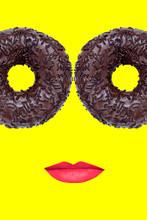 Creative Design Female Face Wi...