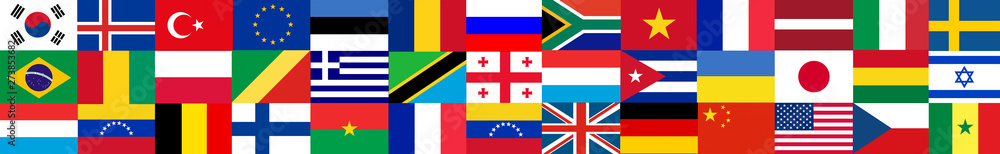 Fototapety, obrazy: Flags of the world