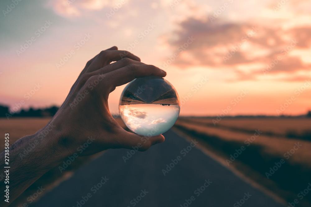 Fototapety, obrazy: La psicologia della mente, palla di vetro.