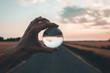 Leinwanddruck Bild - Focalizza l'obiettivo all'orizzonte.