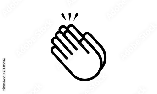 Photo Applause icon clapping hands vector image