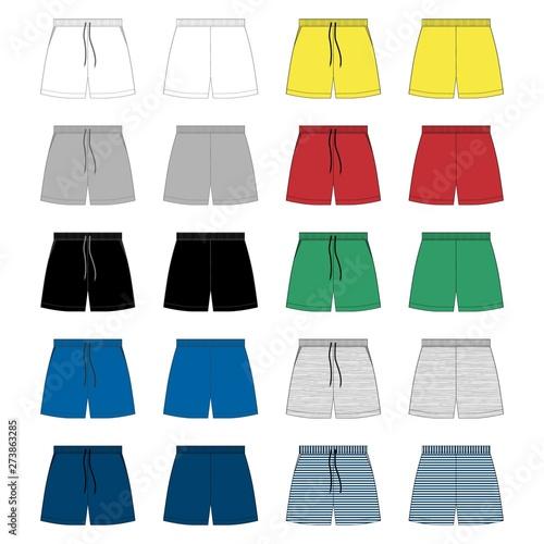 Valokuva Set of sport shorts pants design template