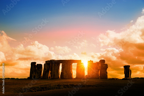 Fotomural Stonehenge at sunset, United Kingdom