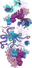 Design Of Fantastic Fishes And...