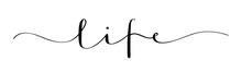 LIFE Vector Brush Calligraphy Banner