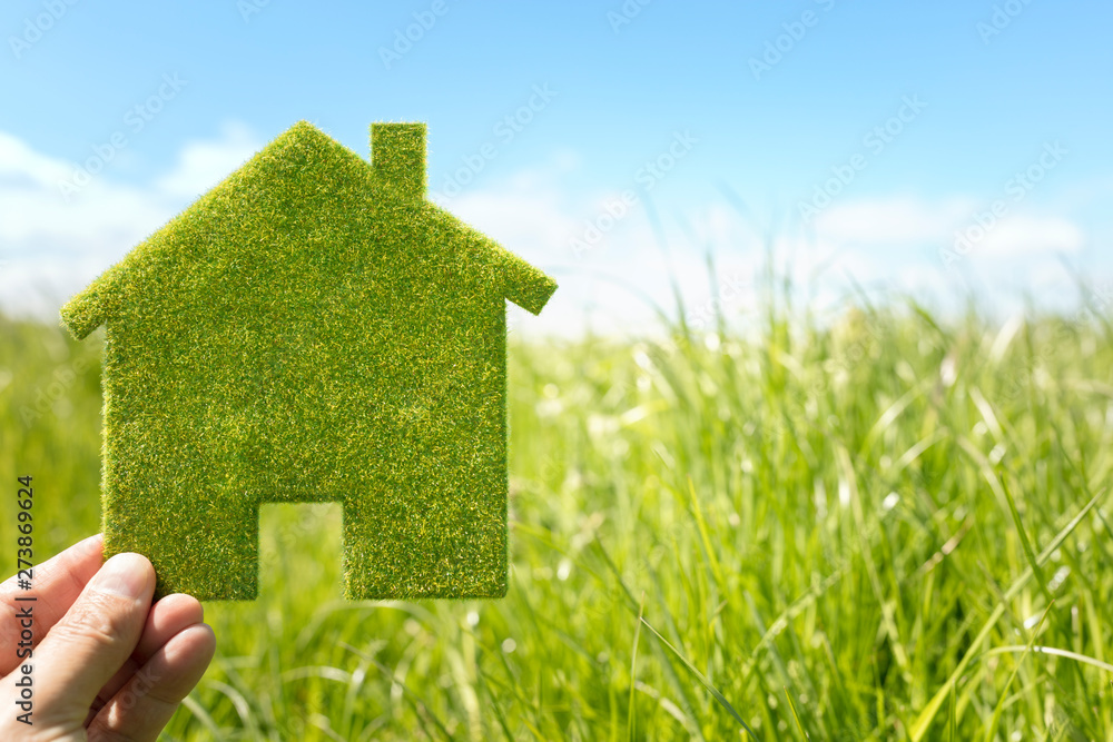 Fototapety, obrazy: Green eco house environmental background