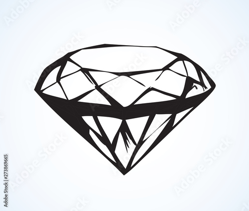 Photo Diamond. Vector sketch
