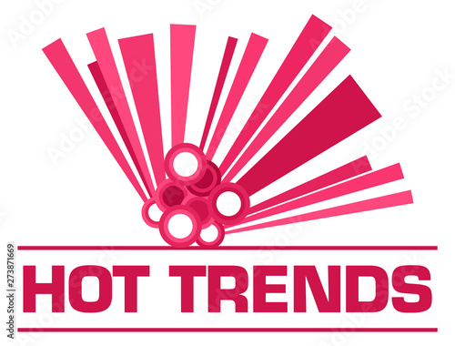 Poster Individuel Hot Trends Pink Graphical Element Text