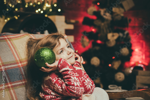 Angel Of Christmas.Christmas Kids Mood Cute Angel Of Christmas With Shining